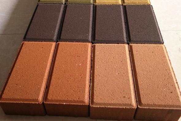 颜色面混凝土透水砖